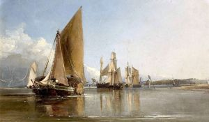 Boats Entering the Medway - George Chambers