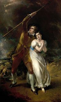 Celadon and Amelia in a storm, by John Wood