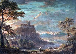 Ruin on a Hill, by Paul Sandby