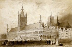 Town Hall, Ypres, by Thomas Allom