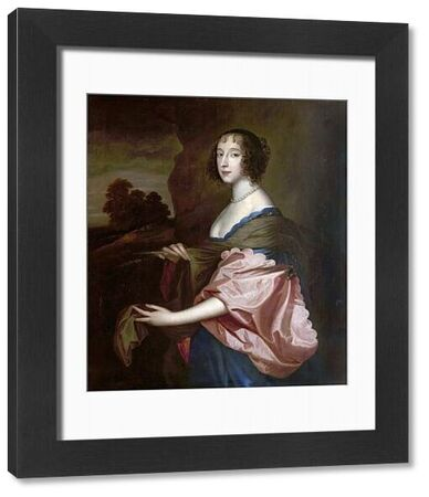 Artist: Dahl, Michael I (after) - Title: Penelope, Lady Herbert (1620-1647) - Date: N/A - Original Medium and Size: Oil on Canvas 112.5 x 96.1