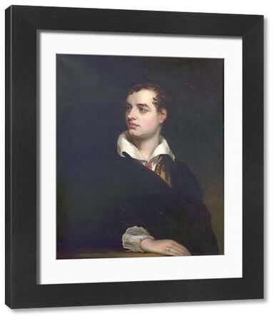 Artist: Pott, Laslett John - Title: Lord Byron (1788-1824) - Date: N/A - Original Medium and Size: Oil on Canvas 91.4 x 72.4