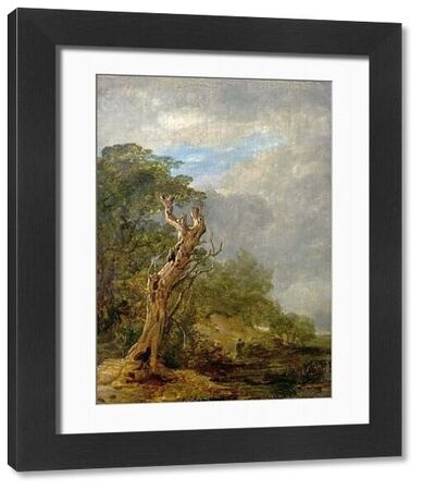 Artist: Collins, William - Title: The Withered Tree - Date: N/A - Original Medium and Size: Oil on Wood 23.5 x 17.4