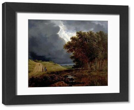 Artist: O'Connor, James Arthur - Title: The Edge of a Forest, Storm Coming On - Date: 1826 - Original Medium and Size: Oil on Canvas 65.5 x 68