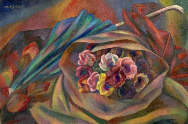 Bouquet and Sunshade - Mark Gertler