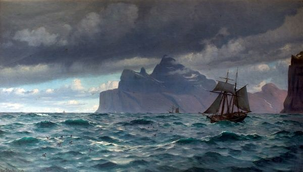 Artist: Blache, Christian Vigilius - Title: Cape North, Icelend - Date: 1884 - Original Medium and Size: Oil on Canvas 106.7 x 182.9