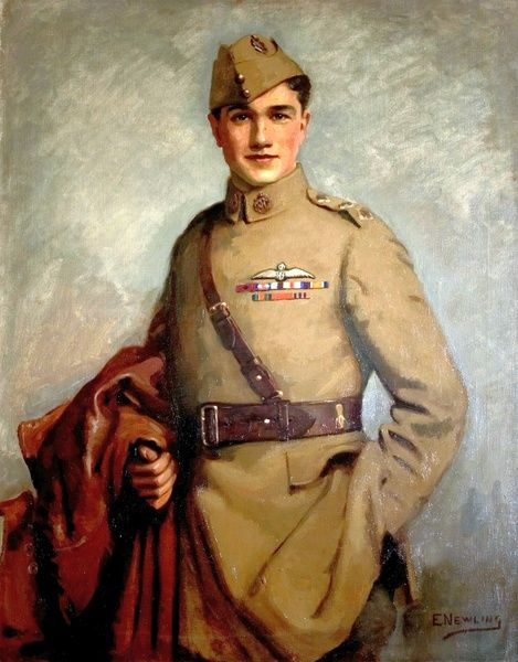 Artist: Newling, Edward - Title: Captain Albert Ball (1896-1917), VC, DSO - Date: 1921 - Original Medium and Size: Oil on Canvas 111.8 x 86.4