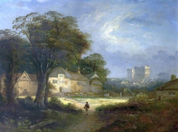 Artist: Vincent, George - Title: Castle Ashby, Northamptonshire - Date: N/A - Original Medium and Size: Oil on Canvas 35.1 x 46.5