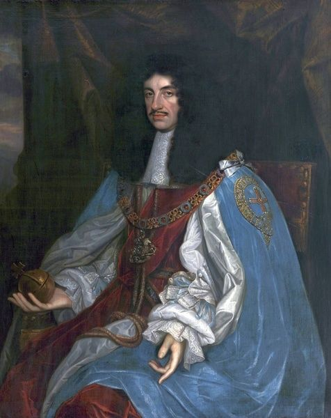 Artist: Wright, John Michael (after) - Title: Charles II (1630-1685) - Date: N/A - Original Medium and Size: Oil on Canvas 115 x 96