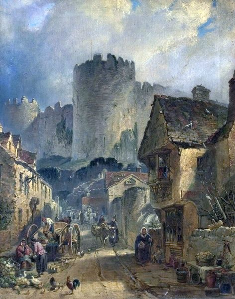 Artist: Dodd, Charles Tattershall I - Title: Conway Castle, North Wales - Date: 1861 - Original Medium and Size: Oil on Canvas 61.6 x 51.4