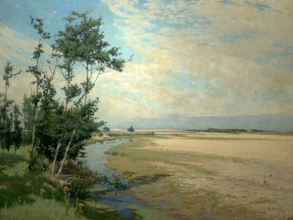 Artist: Mann, Alexander - Title: Findhorn Backwater, Moray Firth, Scotland - Date: 1886 - Original Medium and Size: Oil on Canvas 127 x 154.9