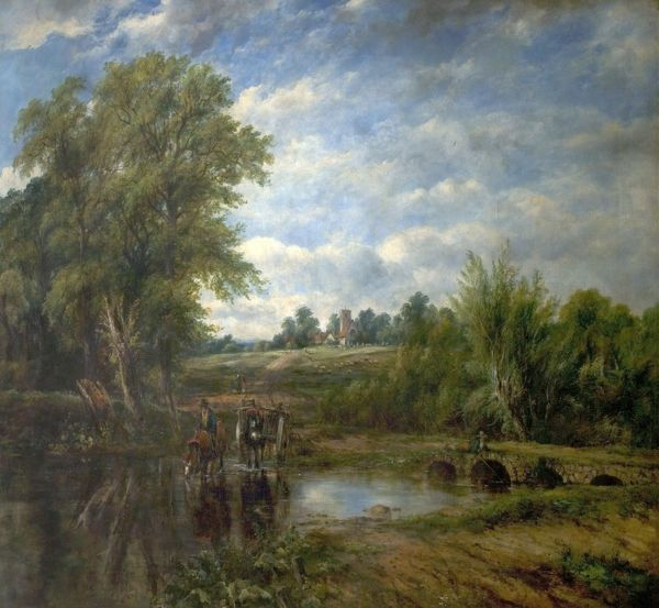 Artist: Watts, Frederick William - Title: The Ford - Date: N/A - Original Medium and Size: Oil on Canvas 101.6 x 133.4