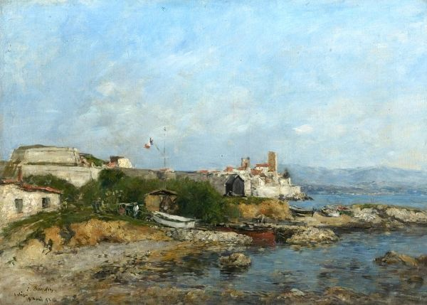 Boudin, Eugene Louis Oil on Canvas 45.1 x 64.1