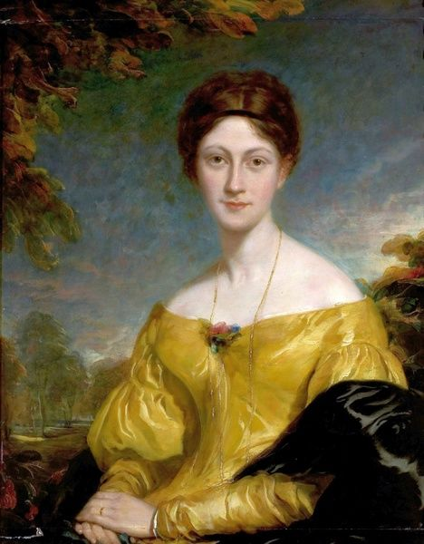 Artist: Phillips, Thomas - Title: Mary Chaworth Musters (1786-1832) - Date: N/A - Original Medium and Size: Oil on Canvas 130 x 102