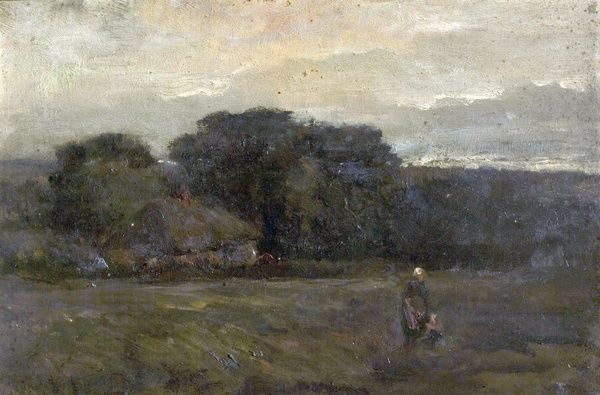 Artist: Hawksley, Arthur - Title: Near Sunningdale, Berkshire - Date: N/A - Original Medium and Size: Oil on Canvas 30.5 x 45.7