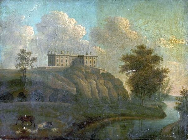 Artist: Unknown Artist - Title: Nottingham Castle - Date: N/A - Original Medium and Size: Oil on Canvas 23 x 30.5