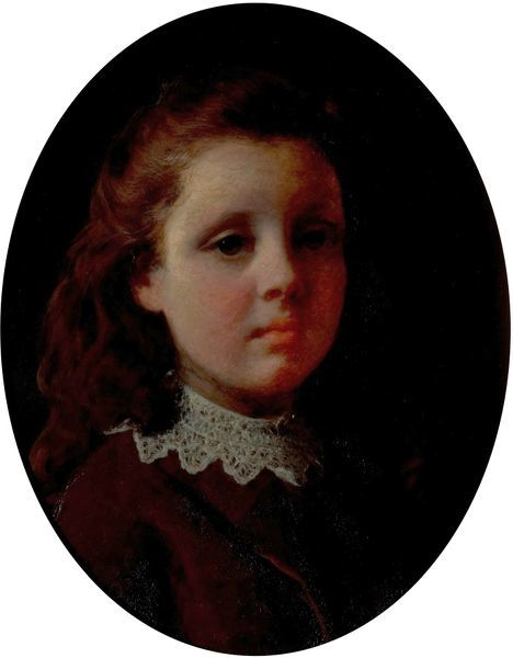 Artist: Corbould, Alfred - Title: Portrait of the Artist's Daughter - Date: 1855 - Original Medium and Size: Oil on Canvas 38 x 30