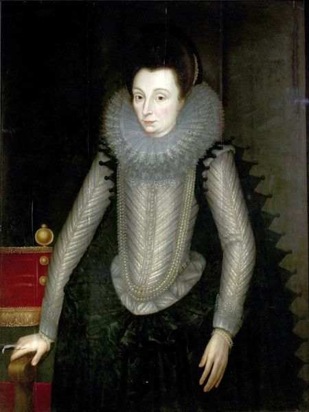 Artist: Critz, John de the elder (attributed to) - Title: Portrait of a Lady called 'Countess of Nottingham' (c.1547-1603) () - Date: 1600-1605 - Original Medium and Size: Oil on Wood 113.6 x 85.7