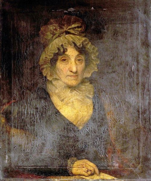 Artist: Unknown Artist - Title: Portrait of a Lady in a Frilled Cap - Date: N/A - Original Medium and Size: Oil on Canvas 77.2 x 63.5