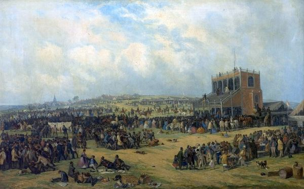 Artist: Holland, John - Title: Before the Race (Nottingham Races) - Date: 1865 - Original Medium and Size: Oil on Canvas 43.8 x 68.6