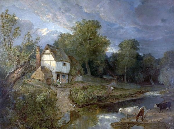 Artist: British (English) School - Title: Ringland Hills, Costessy, Norwich - Date: N/A - Original Medium and Size: Oil on Canvas 95 x 125.5