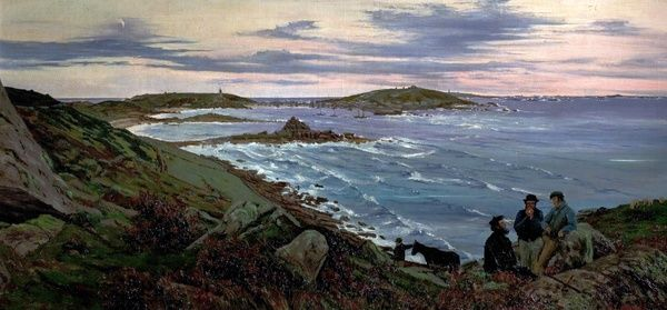Artist: Edwards, Edwin - Title: St Mary's, Scilly Isles - Date: N/A - Original Medium and Size: Oil on Canvas 66 x 144.8