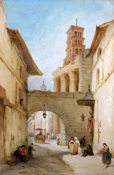 View in Rome, the Forum of Nerva, by George Jones