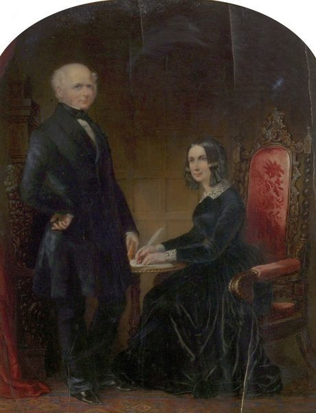 Artist: Gillies, Margaret - Title: William Howitt (1792-1879), and Mary Howitt (1799-1888) - Date: N/A - Original Medium and Size: Oil on Ivory 41.9 x 33