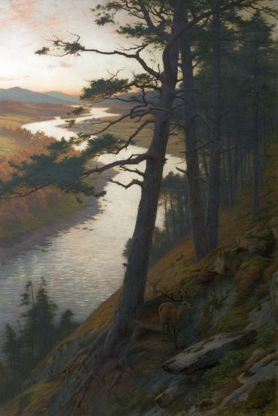 Artist: Farquharson, Joseph - Title: The Winding Dee - Date: 1889 - Original Medium and Size: Oil on Canvas 182.9 x 121.9