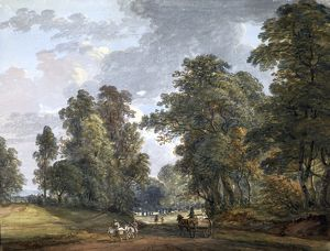 The Donkey Drivers aka Near Windsor Forest, by Paul Sandby