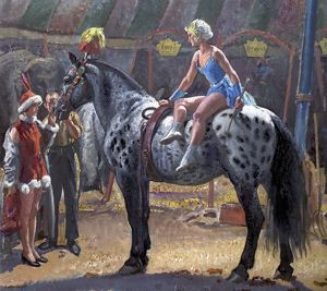 Elsie on 'Hassan' - Laura Knight