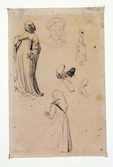 Six Figure Studies aka Six figure studies after Lorenzo Ghiberti, by Richard Parkes Bonington