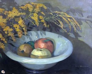 Fruit in a Jade Bowl - George Sheringham