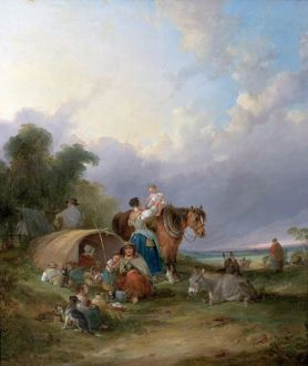 A Gypsy Encampment - William Shayer