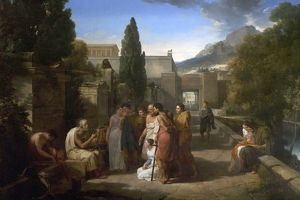 Homer Singing His Lliad at the Gate of Athens