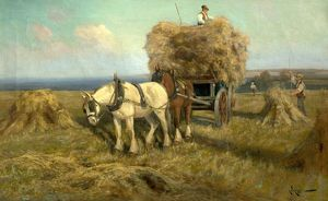 Loading the Harvest Wagon - Arthur W Redgate