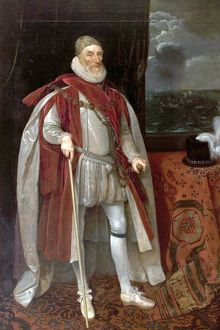 Lord Howard of Effingham (1536-1624), 1st Earl of Nottingham - Daniel Mytens (studio of)