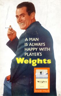 A man is always happy with Player's Weights, 1961