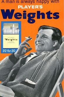 A man is always happy with Player's Weights: Orange, 1961