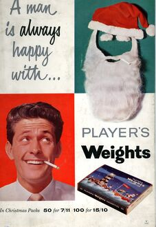 A man is always happy with, Player's Weights, 1960
