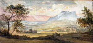 Mountain Sunset, by Paul Sandby