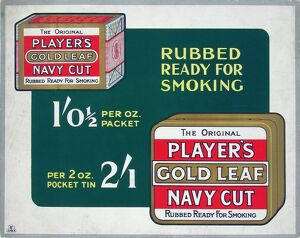 Navy Cut Gold Leaf tobacco, 1928