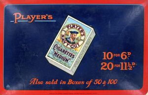 Navy Cut Medium Cigarettes, 1923