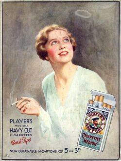 Navy Cut Medium Cork Tip Cigarettes, 1930