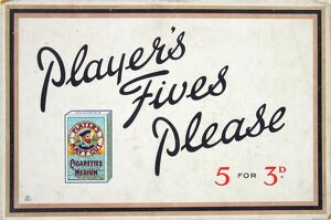 Navy Cut Medium 'Fives' Cigarettes, 1927=28