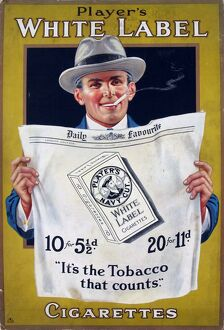 Navy Cut White Label cigarettes, 1924=25