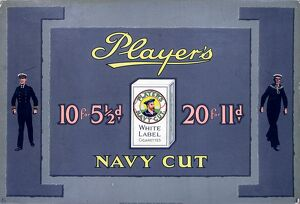 Navy Cut White Label cigarettes, 1926