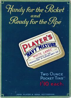 Navy Mixture White Label tobacco, 1927