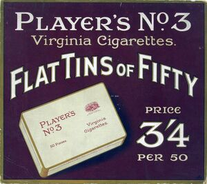 No. 3 cigarettes, 1929
