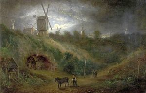 fine art/landscapes/old ropewalk foot gallows hill nottingham forest